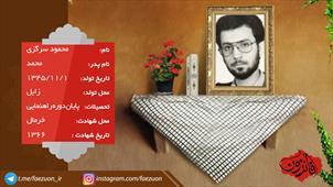 شهید محمود سرگزی
